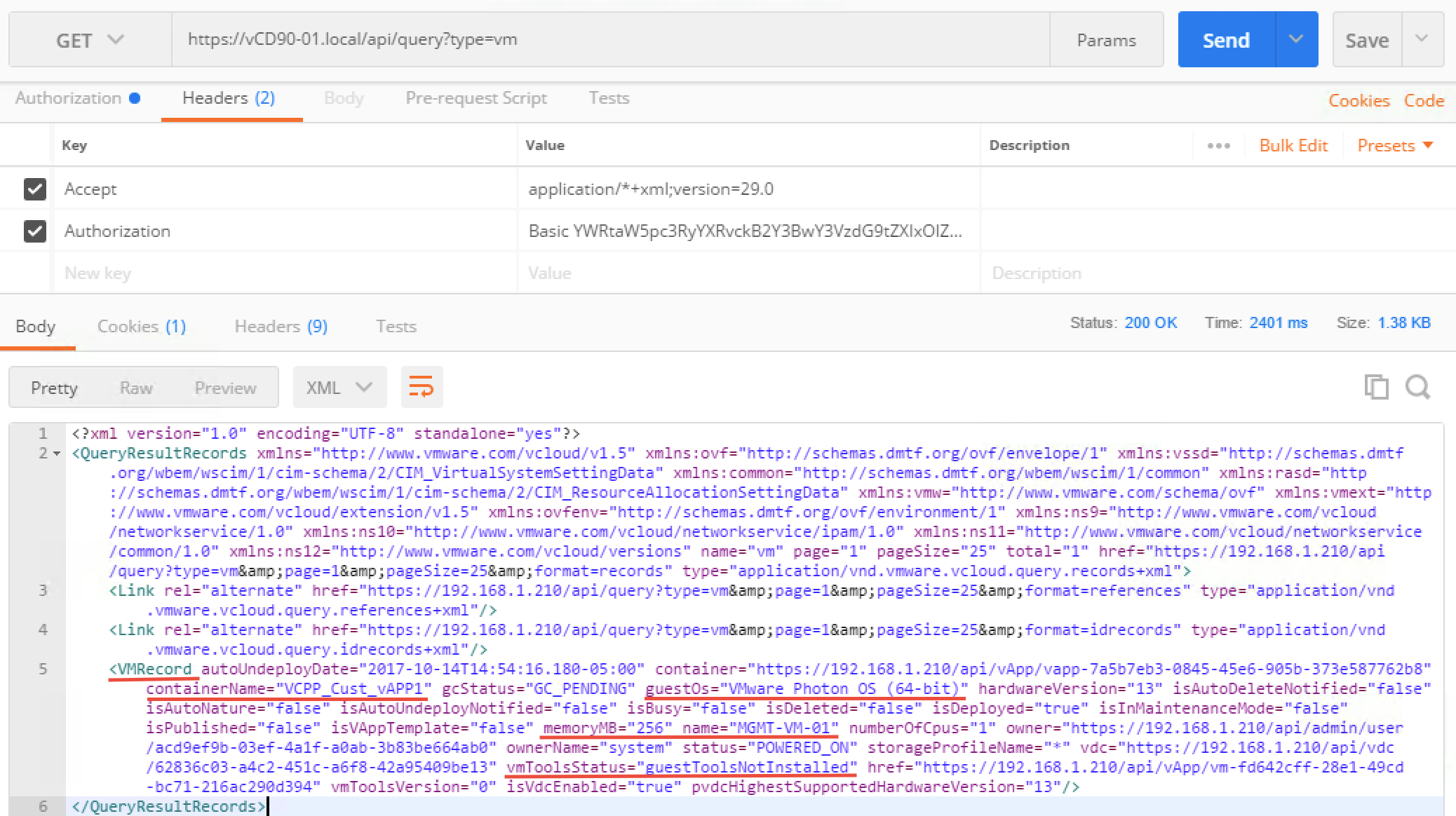 Getting Started with vCloud Director 9 0 API – Part 1