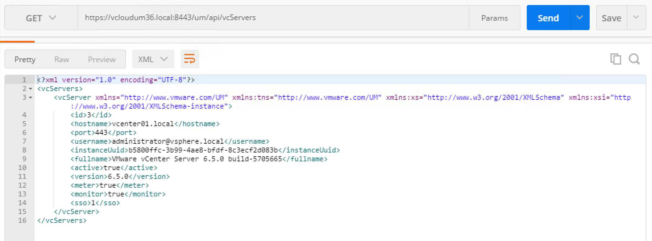 Working with VMware vCloud Usage Meter 3 6 API
